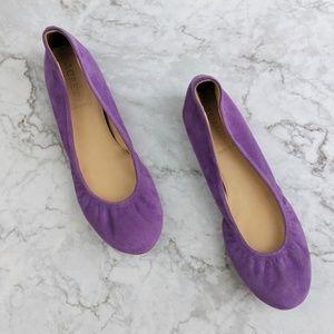 J.Crew | Purple Suede Ballet Flats 6.5